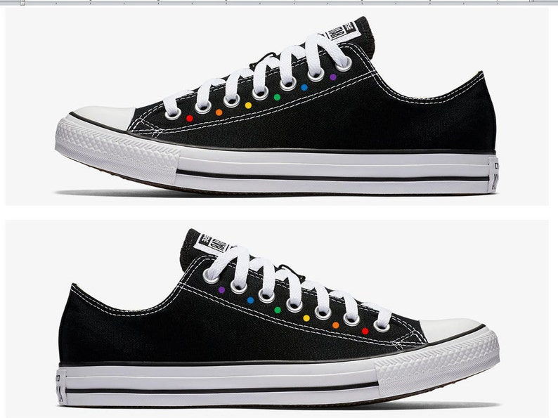 28bf3720602e Converse Hand Painted Gay Pride with Rainbow Polka Dots