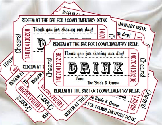 printable drink tickets diy wedding instant download table etsy