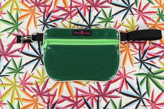 Vert d'éclat / paillettes vinyle-Fanny Pack / poche / sac bandoulière / Roller derby Skate Bag