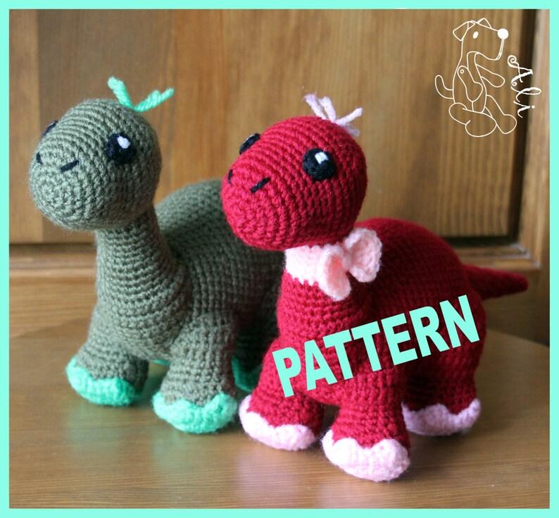 Crochet Dinosaur Pattern In Pdf Etsy