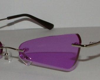 8dea1e709f777 Rimless Triangular Cosplay Costume Glasses