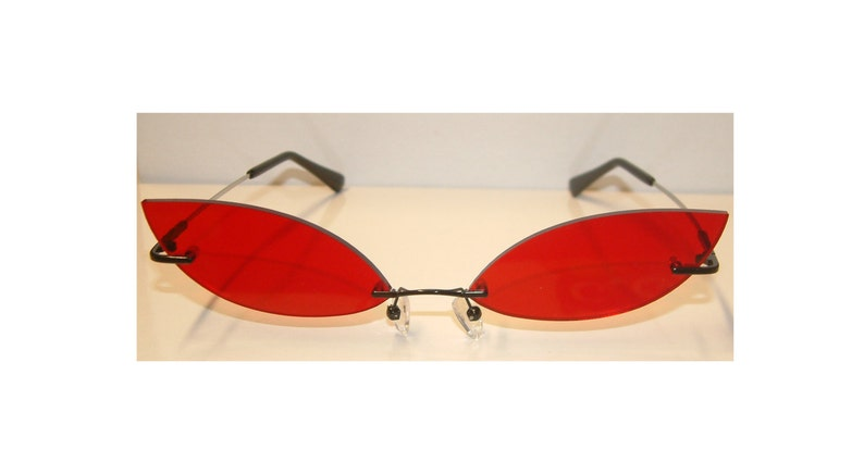 5c7c000a76 Red streach cosplay costume glasses V4