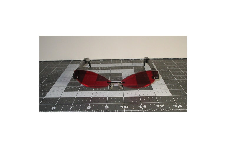 Red cosplay glasses slim cat interchangeable cosplay costume image 0