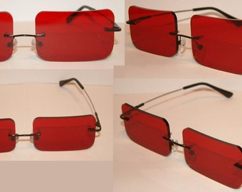 Red Rectangle V2 Cosplay Costume Glasses