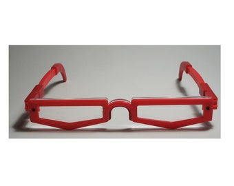Anime red frame slim cosplay interchangeable cosplay costume glasses
