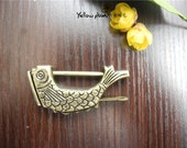 59 9 30 mm quot Fish quot Vintage Style antique brass color jewelry box,wooden box lock,padlock with key C008