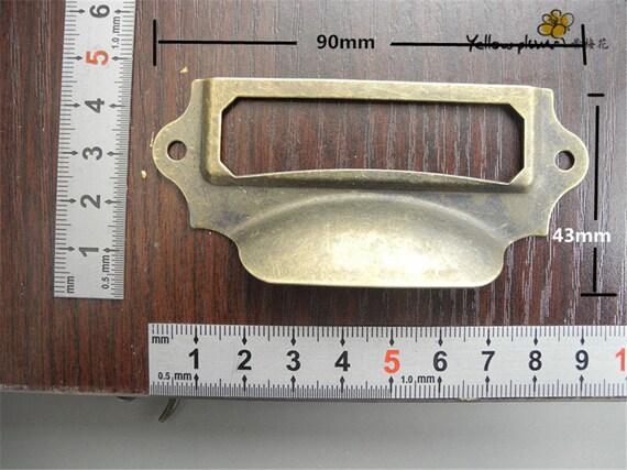 4pcs 84MM x 30mm big size Black color card holderFrame holderlabel holdersLabel Frames DP0339