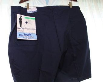 c1937a1670 70s SEARS Navy Blue PUTTER SHORTS Full Fit Husky Big Tall Elastic Waist  Inserts Golf Husky Vintage Work Leisure Athletic Deadstock Nos 44