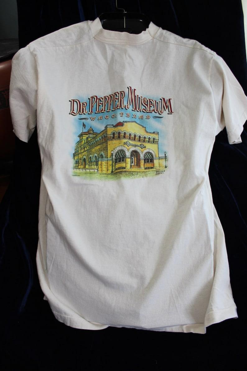 DR PEPPER MUSEUM Waco Texas T-Shirt Tee 10 2 4 Chest Logo  0a601ee0f