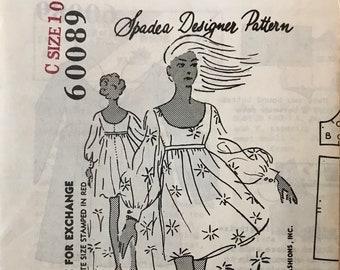 Size 13  Bust 36 Spadea NA-2138 Back buttoned dress John Weitz Dress Sewing Pattern