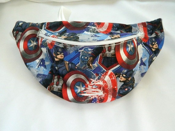 "Boys // Girls Marvel Comics /"" Captain America /"" Ear Muffs Black Fur Older"