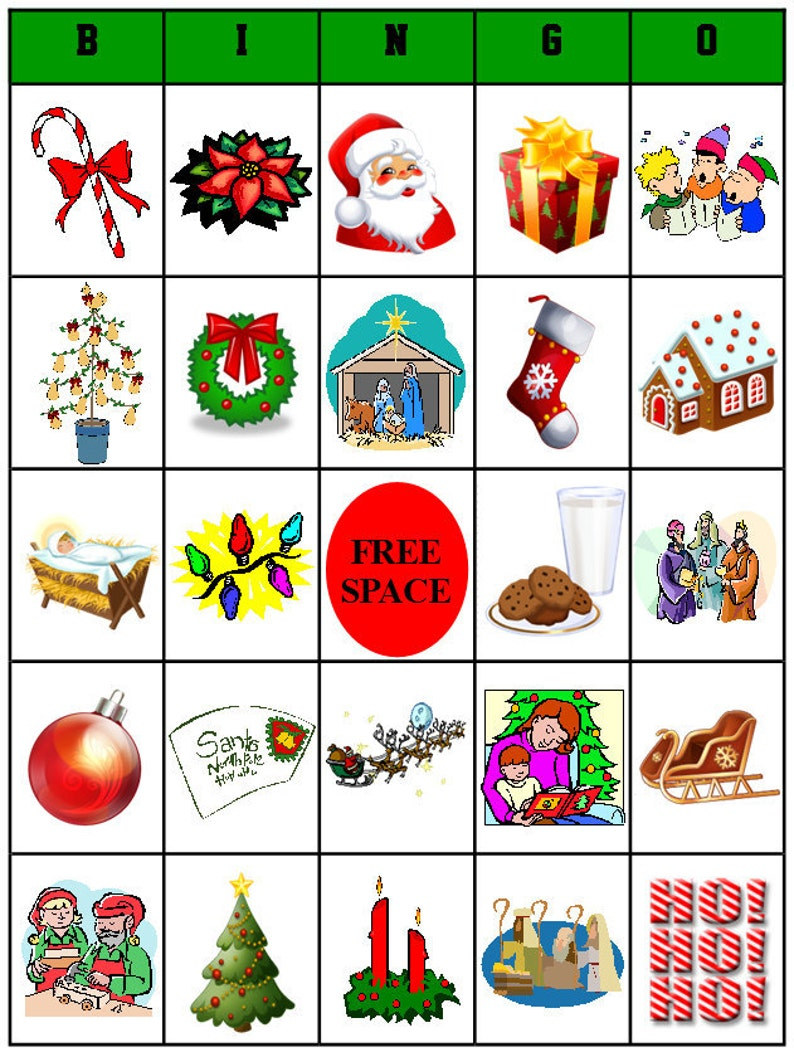 image regarding Christmas Bingo Free Printable titled Printable Xmas Bingo - Alternate Activity Community forums for All Concentrations - 49 community forums involved - Prompt Down load