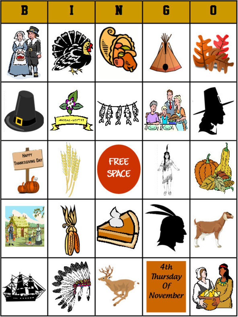 photo regarding Thanksgiving Bingo Printable titled Printable Thanksgiving Bingo Match- PDF Record - 28 message boards