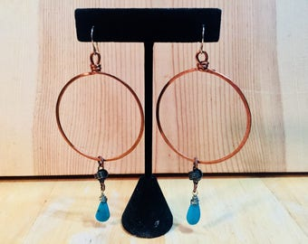 Hammered Hoops with mixed Metals
