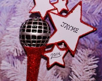 Karaoke Microphone Christmas Ornament