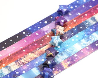 Galaxy Stars Origami Lucky Star Paper Strips Rainbow Multicolor DIY