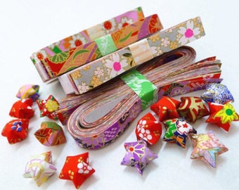 90 Stripes Star Folding Origami Paper Metallic Red Bling  Paper Lucky Star  Favour Strips Colors