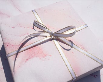 Pink Marble Wrapping Paper,Birthday Gift Wrap,Marble Painting Wrap,Holiday Gift Wrap