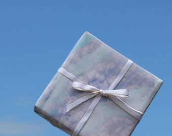Small Size Clouds Wrapping Paper,Birthday Gift Wrap,Wrapping Sheets,Holiday Gift Wrap,Craft Paper