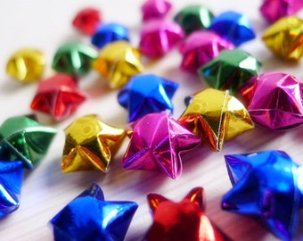 Holographic Rainbow Origami Lucky Stars - Sparkling Gemstone Wishing Stars/Home Decor/Confetti/Party Supply