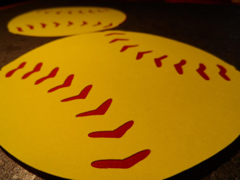 Buy 2 Sets Get 1 Set Free Softball Fast Pitch Baseball Locker Decorations Party Decor Die Cut Embellishments