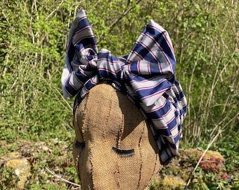 Striped Silk 1940s Style Headwrap