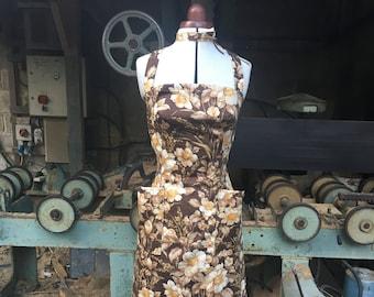 Size 6-8 Autumn Floral Cotton Mini Dress