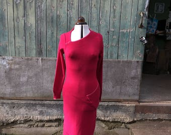 Fuchsia Pink Cashmere Dress