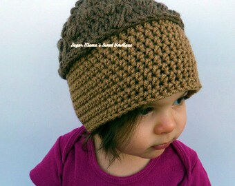 4f16a7b3a1c INSTANT Download - Acorn Hat CROCHET PATTERN Pdf File - 6 Sizes included   from Newborn to Adult - Permission to sell finished item