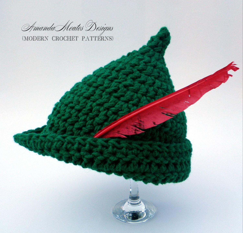 INSTANT Download Elf   Peter Pan   Robin Hood Hat CROCHET  4f444e59793