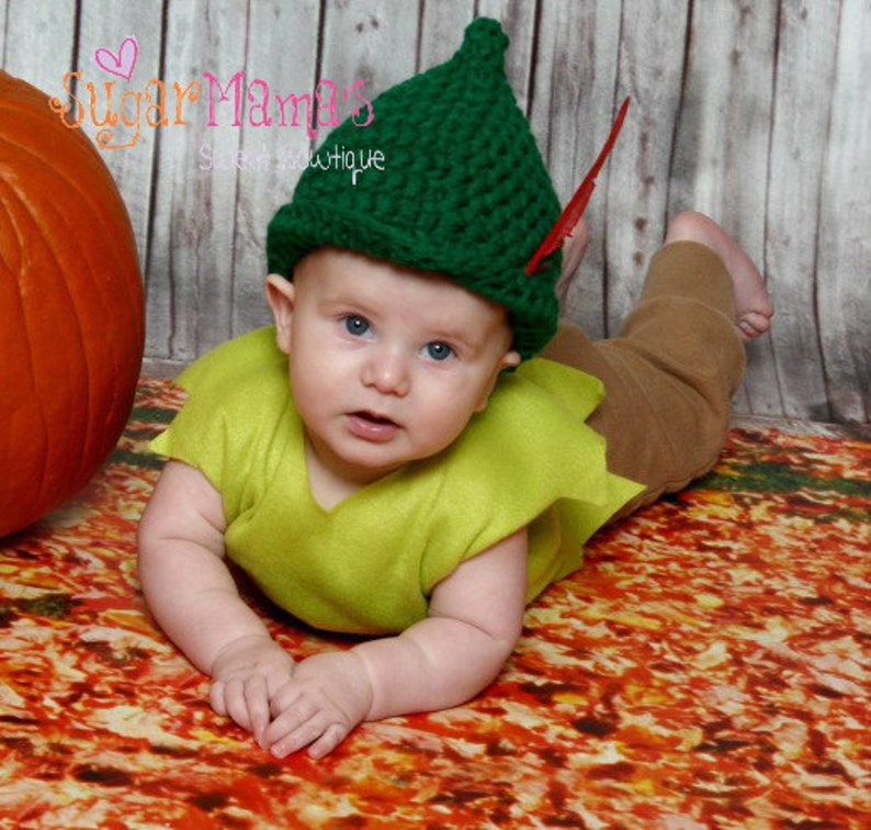 ea4227c6024 INSTANT Download Peter Pan   Robin Hood Hat CROCHET PATTERN