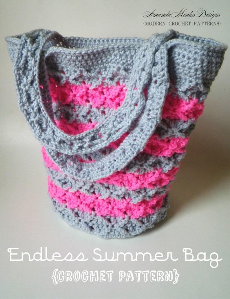 INSTANT Download  Endless Summer Bag CROCHET PATTERN image 1