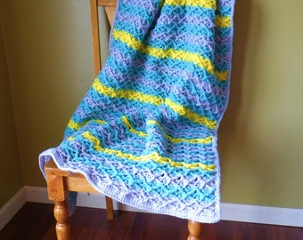 INSTANT Download - Belgian Waffle Blanket CROCHET PATTERN Deep Diamond Texture - Pdf File - Permission to sell finished item