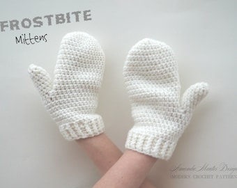 INSTANT Download Frostbite Mittens CROCHET PATTERN Pdf File-3 Sizes - Permission to sell finished item