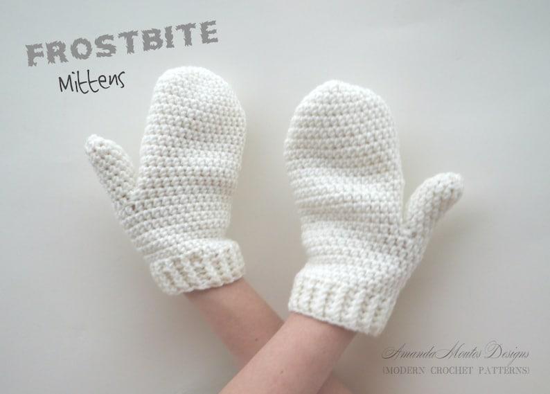INSTANT Download Frostbite Mittens CROCHET PATTERN Pdf File-3 image 1