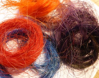 Assorted packs of horse hair - Ideal for whiskers - needle felted creatures HHD04