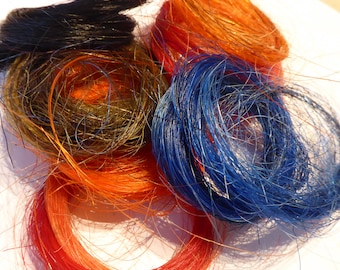 Assorted packs of horse hair - Ideal for whiskers - needle felted creatures HHD06