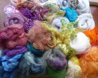 Hope Jacare -  Extra textural felt making pack - plant - silk - wool .....ETFP06