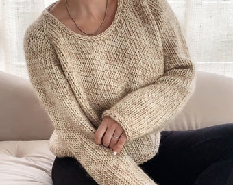 Daily Jumper Knitting Pattern Daily sweater Top-Down Knitting Pattern