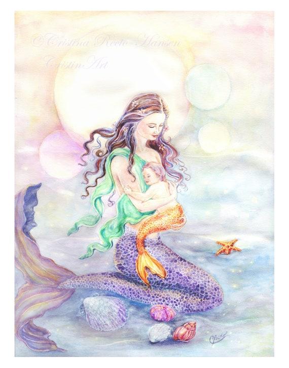 A1 Pretty Mermaids Tail Poster Art Print 60 x 90cm 180gsm Student Gift #15528
