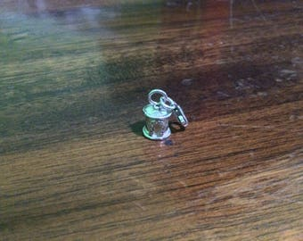 Sterling silver round endcap 5 mm hammer finished with horse shoe lobster clasp - EC998822