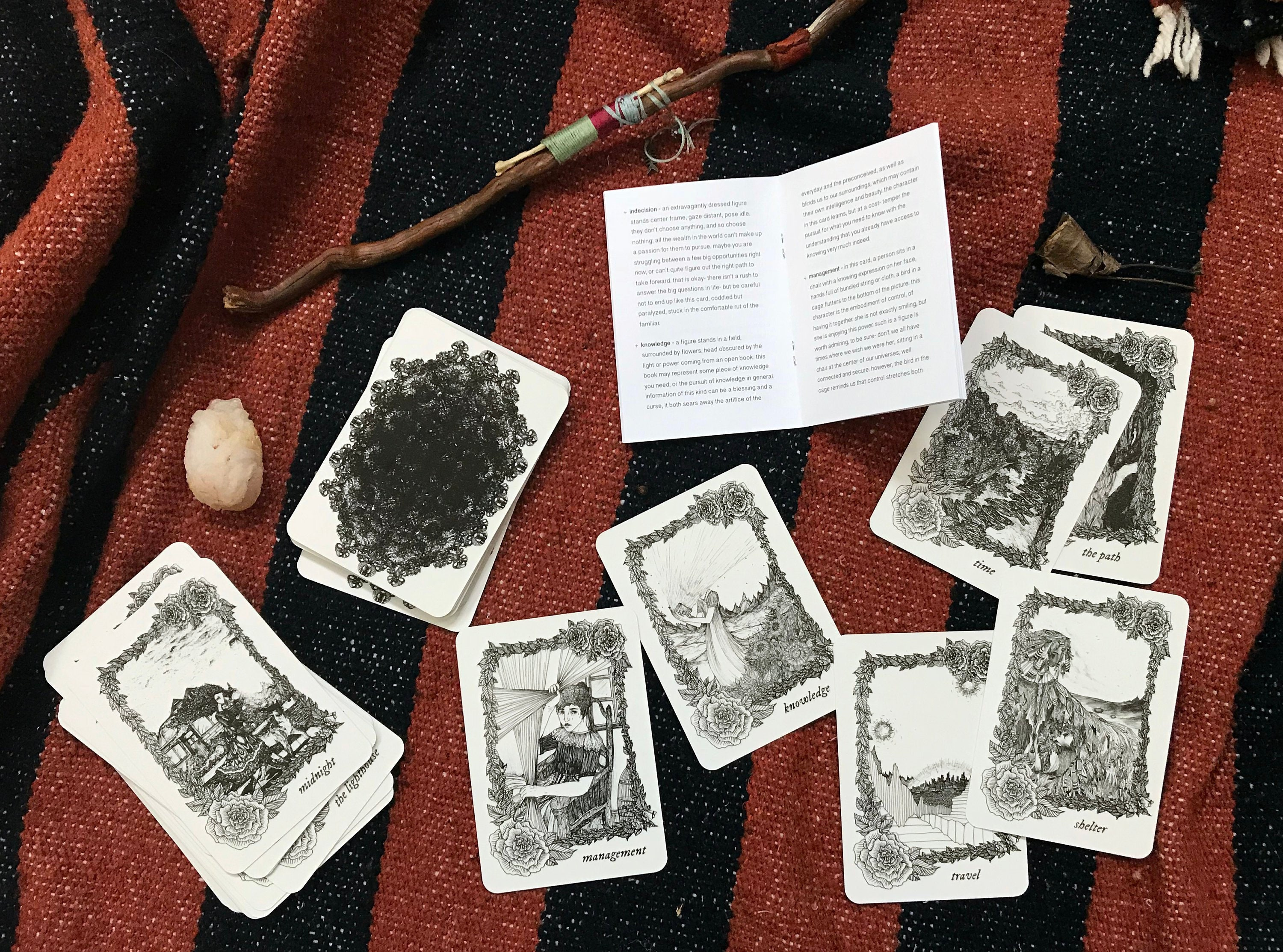 The Pear Tree Oracle Deck -- 44 unique illustrated cards and a guiding  booklet