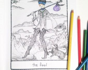 The Efflorescent Tarot Coloring Book: An adult coloring book (with original artwork of the 78 Tarot Cards)