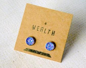 WEALTH Stud Earrings : Purple Druzy Inspiration Posts
