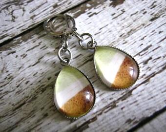 Spring Green Earrings : Glass Drop Jewelry