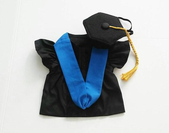 Doctoral Pet Graduation Cap And Gown Dog Doctoral Grad Cap Etsy