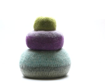 WOOLY FELTED Pod Bowls - wooly pods to put your stuff into (or not)