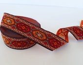 35 mm - 1.25 quot turkey rug jacquard, jacquard ribbon turkey in kilim design, trim and border