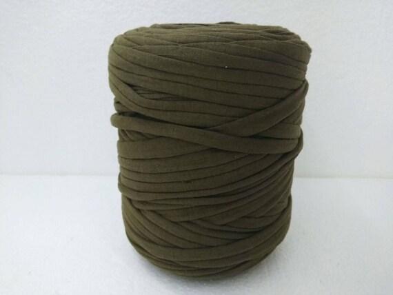 Olive Drab Tshirt Yarn For Handbag Making Trapillo Yarn For Etsy Mesmerizing T Shirt Yarn Pouf