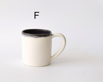 Overstock Sale! Small Black and White Ceramic Mugs 8-10 ounces